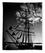Sails In The Sunset Fleece Blanket