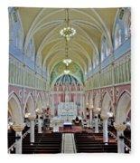 Saint Bridgets Gothic Church Fleece Blanket
