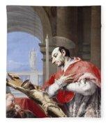 Saint Charles Borromeo Fleece Blanket