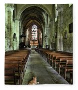 Saint Emilion Church Fleece Blanket