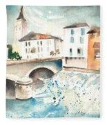 Saint Girons 02 Fleece Blanket