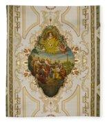 Saint Louis Cathedral Mural Fleece Blanket