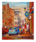 Saint Paul Street  Montreal Fleece Blanket