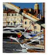 Saint Tropez Harbor Fleece Blanket