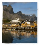 Sakrisoy Fishermen's Village Fleece Blanket