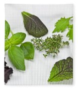 Salad Greens And Spices Fleece Blanket