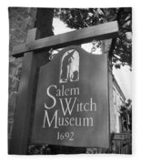 Salem Witch Museum Fleece Blanket