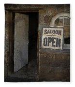 Saloon Open Fleece Blanket