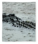 Salt Water Crocodile 3 Fleece Blanket