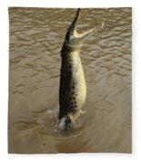 Salt Water Crocodile Fleece Blanket