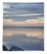 Salton Sea Sunset Fleece Blanket