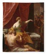 Samson And Delilah Fleece Blanket