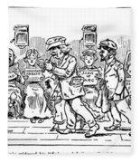 Samuel L. Clemens Cartoon Fleece Blanket