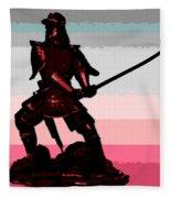 Samurai Sunrise Fleece Blanket