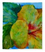 San Diego Hibiscus Study I Underwater Fleece Blanket
