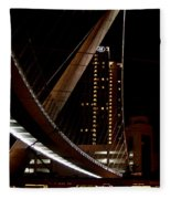San Diego Lights At Night Fleece Blanket