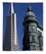 San Francisco Buildings Fleece Blanket