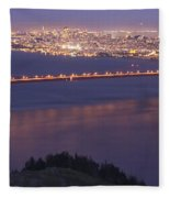 San Francisco Dusk Fleece Blanket