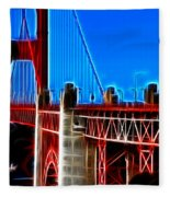 San Francisco Golden Gate Bridge Electrified Fleece Blanket