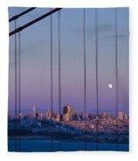 San Francisco Moon Fleece Blanket