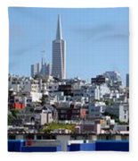 San Francisco Panorama Fleece Blanket