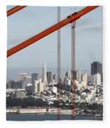 San Francisco Through The Cables Fleece Blanket