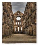 San Galgano  - A Ruin Of An Old Monastery With No Roof Fleece Blanket