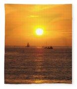 San Juan Capistrano Beach Sunset Fleece Blanket