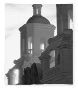 San Xavier Del Bac Mission Tucson Fleece Blanket