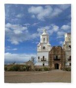 San Xavier Del Bac Tucson Fleece Blanket