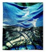 Sand And Shells On Dress Fleece Blanket