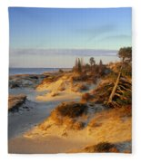 Sand Dunes At Sunset, Lake Huron Fleece Blanket