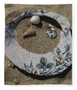 Sand On A Half Shell Fleece Blanket