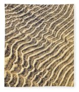 Sand Ripples In Shallow Water Fleece Blanket
