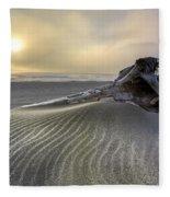 Sand Wrinkles Fleece Blanket