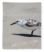 Sanderling On The Beach Fleece Blanket