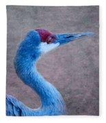 Sandhill Crane 3 Fleece Blanket