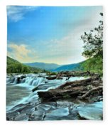 Sandstone At New River Fleece Blanket