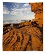 Sandstone Cliffs, Cavendish, Prince Fleece Blanket