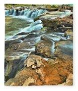 Sandstone Falls In The New River Fleece Blanket