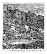 Sandstone Quarry, 1840 Fleece Blanket