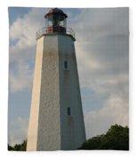 Sandy Hook Lighthouse 2 Fleece Blanket
