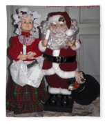 Santa Couple Fleece Blanket
