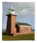 Santa Cruz Lighthouse Fleece Blanket