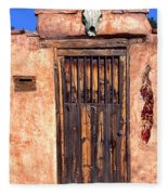 Santa Fe Door Fleece Blanket