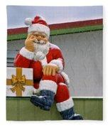 Santa Is Waiting For You Fleece Blanket