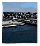Santa Monica Pier Fleece Blanket