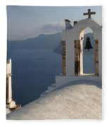 Santorini Churches Fleece Blanket