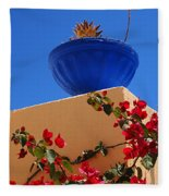 Santorini Vignette Fleece Blanket