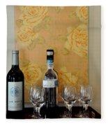 Sara Beth's Wine Rack Fleece Blanket
